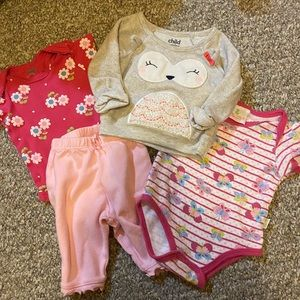 4 Piece 0-3 Months Baby Girl Set  🌸